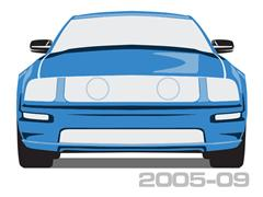 2005-2009 Mustang Quarter Panel Scoops