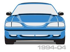 1994-2004 Mustang Convertible Rear Windows