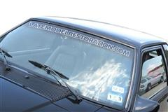 LatemodelRestoration Windshield Banners