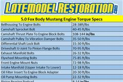 5.0 Torque Specs For Fox Body Mustang