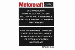 Mustang Motocraft Parts Decals