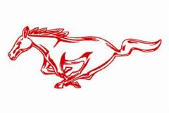 Mustang Running Horse Decals