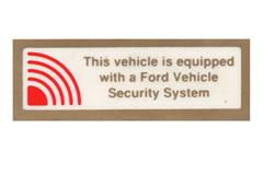 Mustang Security System Decals