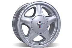 Silver Mustang Pony Wheels